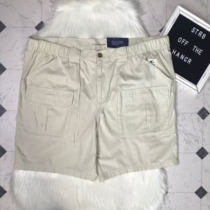 NWT croft & barrow side-elastic cargo shorts sz 46